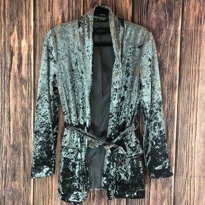 Zara | Forest Green Velvet Blazer